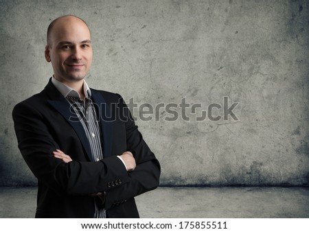portrait of smiling man - stock photo