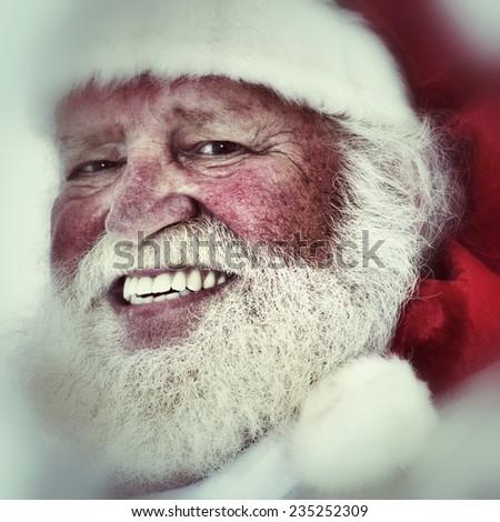 Portrait of smiling Santa Claus in authentic look.  - stock photo
