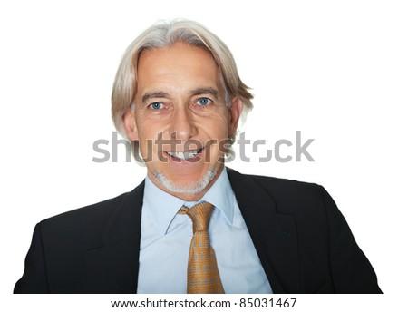 Portrait of smiling senior business executive - stock photo