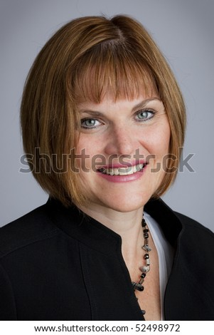 Portrait Of Smiling Stylish Business Woman - stock photo