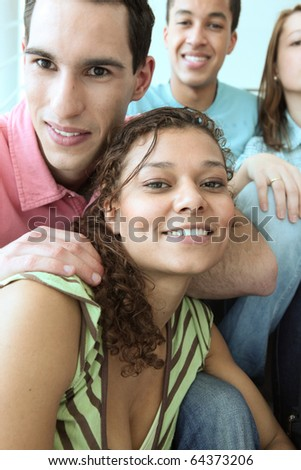 Portrait of students - stock photo