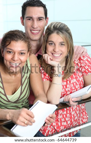 Portrait of students - stock photo