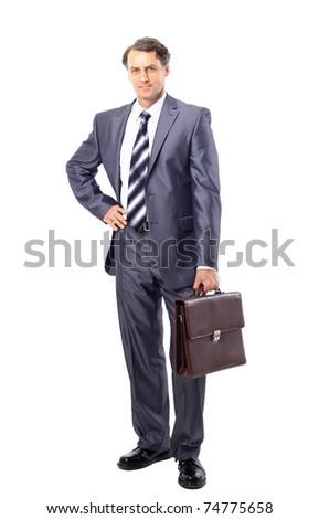 Portrait of successful business man - stock photo