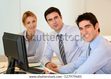 Portrait of successful business team - stock photo