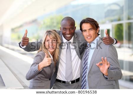 Portrait of successful business team - stock photo