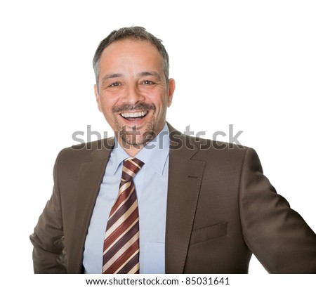 Portrait of successful mature executive smiling - stock photo