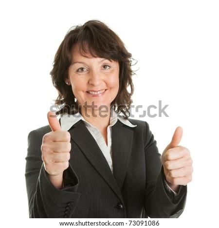 Portrait of sucessful senior businesswoman - stock photo