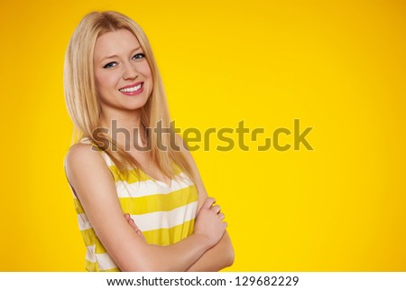 Portrait of summertime girl - stock photo