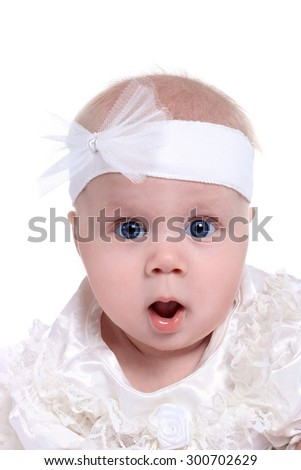 Portrait of surprised Beautiful  baby