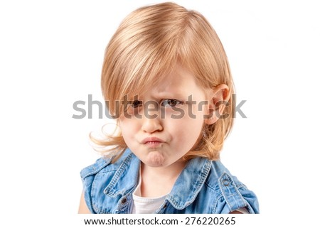 Portrait of sweet and spoiled little girl - stock photo