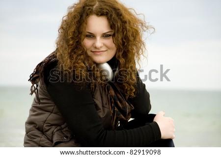 Portrait of teen girl at outdoor. - stock photo