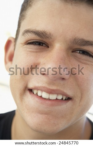 Portrait Of Teenage Boy Smiling