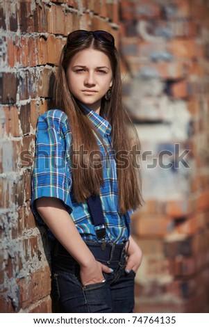 portrait of teenager - stock photo