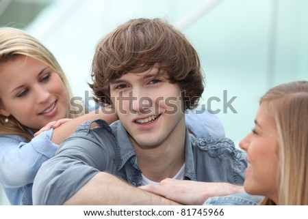 portrait of teenagers - stock photo
