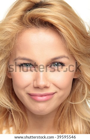 Portrait of the beautiful and cheerful girl of model about Alexander's name