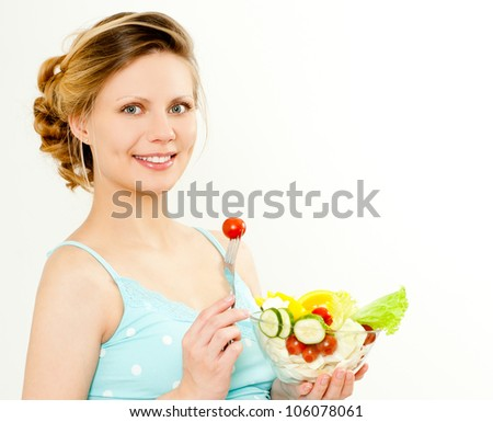 portrait of the beautiful young woman - stock photo