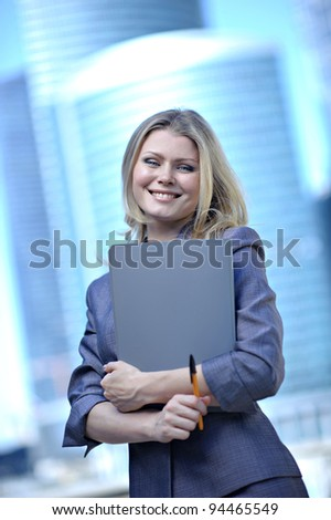 Portrait of the business woman - stock photo