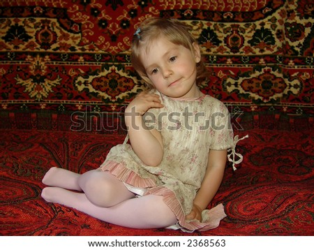 portrait of the child - stock photo