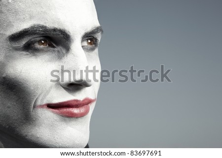 Portrait of the circus man - stock photo