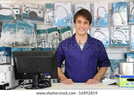 portrait of the friendly owner of a building supplies store