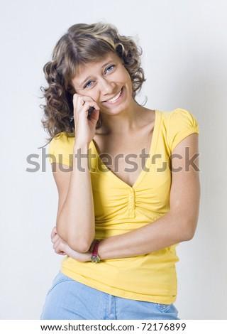 Portrait of the girl - stock photo