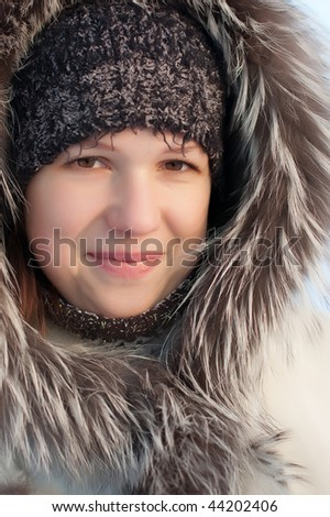 Portrait of the girl in the winter