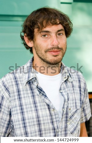 Portrait of the man in shirt - stock photo