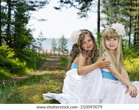 Portrait of two beautiful girls