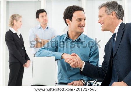 Portrait Of Two Businessman In Office  - stock photo