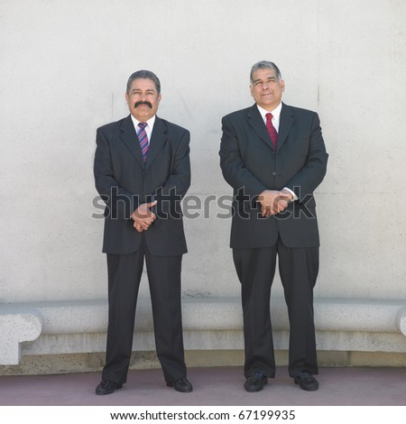 Portrait of two businessmen standing