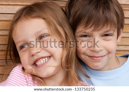 portrait of two cute kids