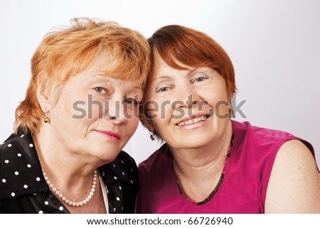 Portrait of two elderly women