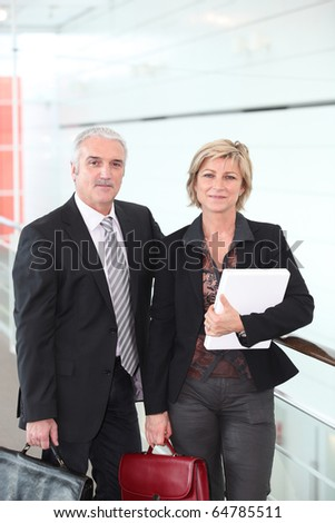 Portrait of two teachers - stock photo