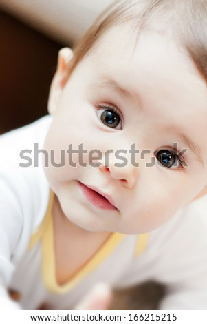 Portrait of very sweet little girl. - stock photo