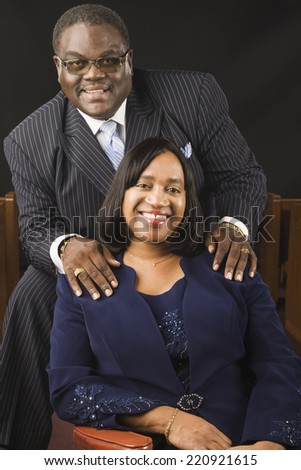 Portrait of well dress African couple - stock photo
