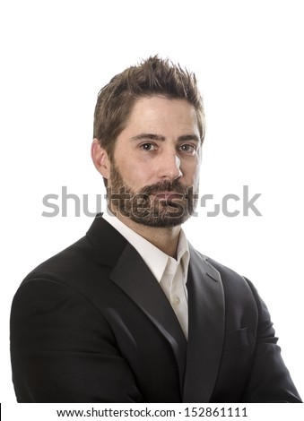 Portrait of well dressed confident man - stock photo