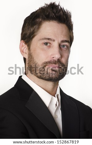 Portrait of well groomed professional man - stock photo