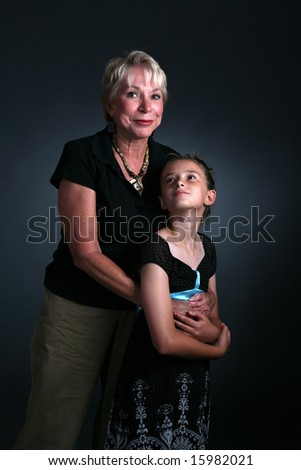 portrait of woman and her granddaughter