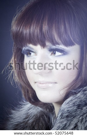 Portrait of woman in retro style