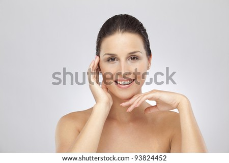 Portrait of woman prepared for wellness - stock photo