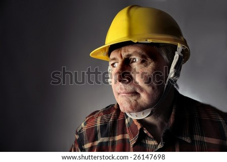 portrait of  worker with an hardhat