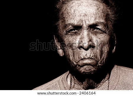 Portrait of 97 Year Old Native American woman