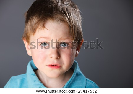 Portrait of 4 years old crying boy