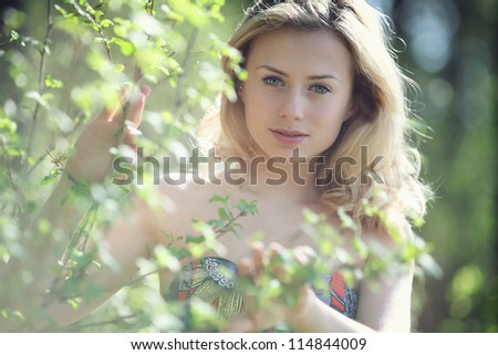 Portrait of young attractive - stock photo