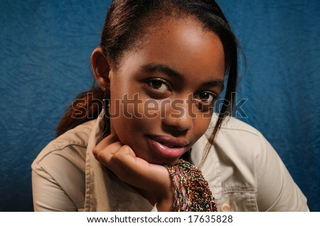 Portrait of young beautiful african girl posing - stock photo