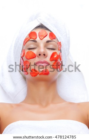 portrait of young beautiful woman being cosmetic treated