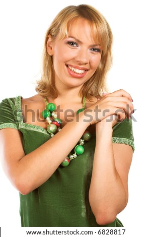 portrait of young beautiful woman with cute smile