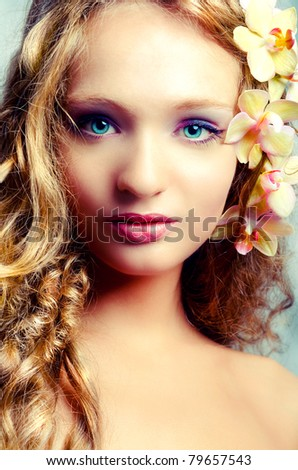 Portrait of young beauty - stock photo