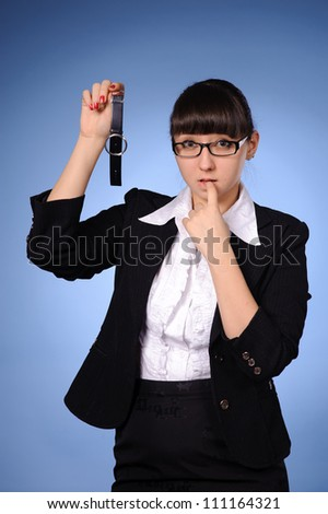 portrait of young beauty business woman - stock photo