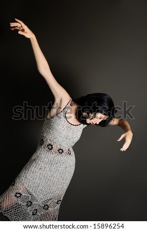 Portrait of young contemporary dancer woman - stock photo